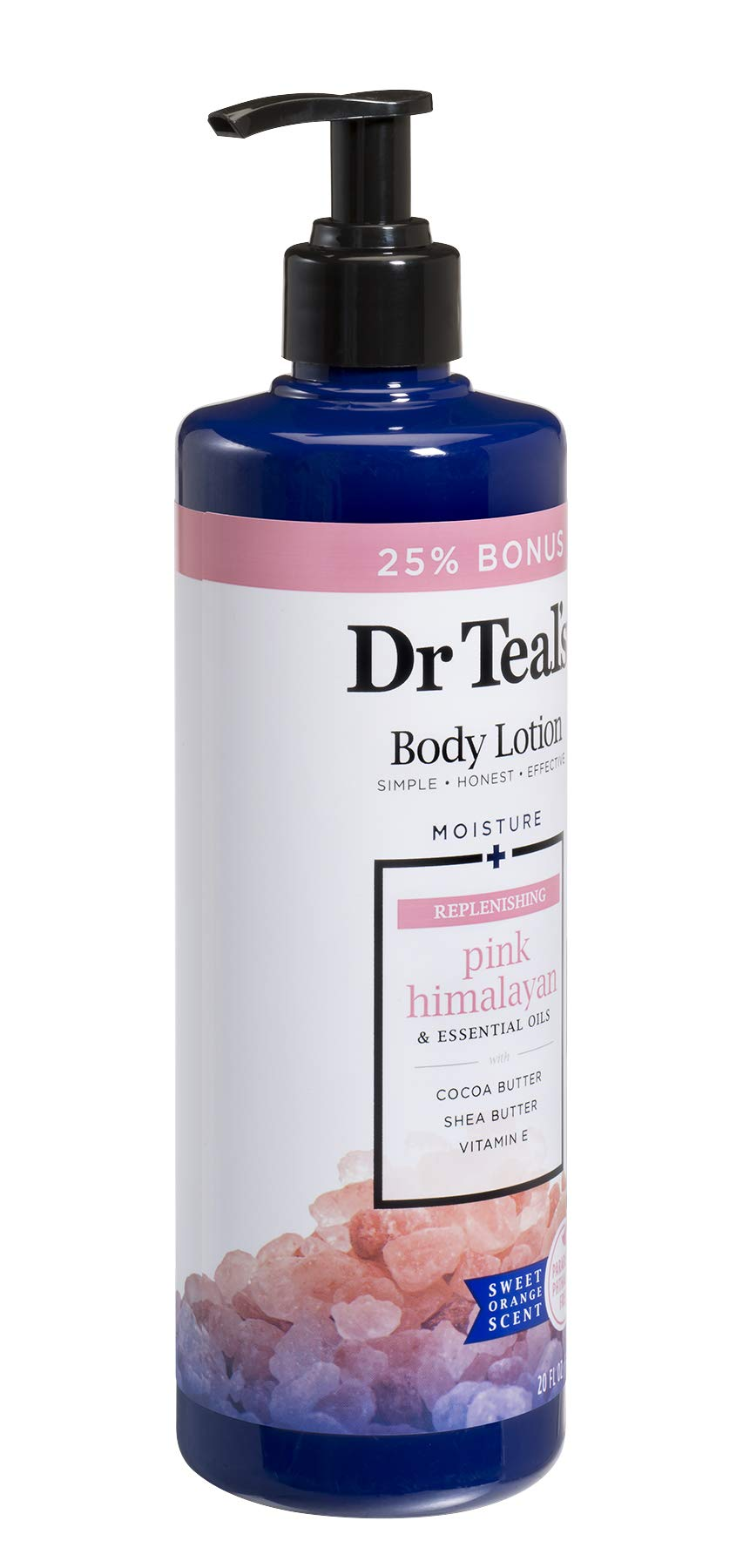 Dr Teal's Body Lotion - Replenishing Pink Himalayan - 20 oz Bonus Size by Dr Teal's