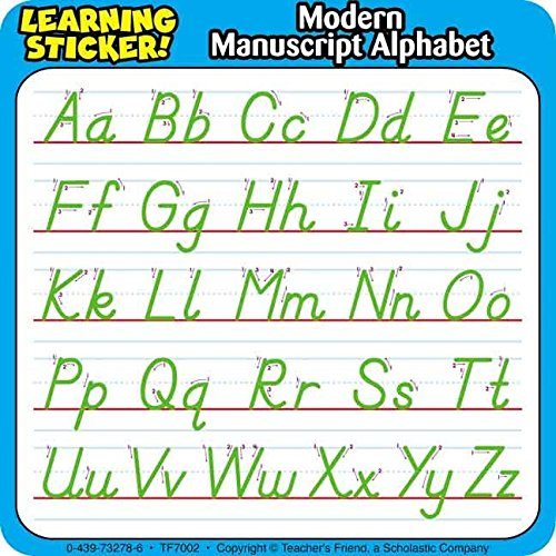 [(Modern Manuscript Alphabet Learning Stickers)] [By (author) Inc. Scholastic] published on (January, - Alphabet Manuscript Stickers Learning