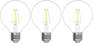 GE Lighting 43266 Refresh HD LED (40-Watt Replacement), 350-Lumen G25 Bulb, Medium Base, Daylight Clear, 3-Pack, Title 20 Compliant, 3 Count