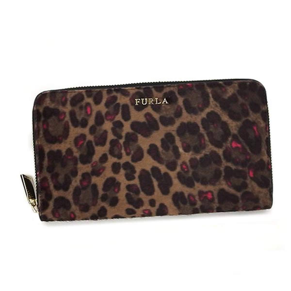 [フルラ] 財布 780297 バビロン ラウンドファスナー長財布 レオパード ヒョウ柄(ピンク)+ブラック [並行輸入品] B07NXSGR28