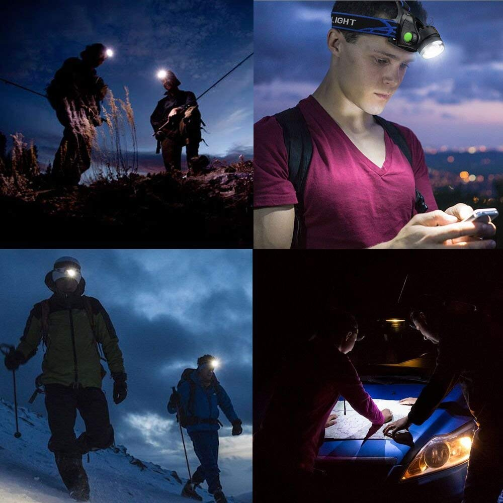 Ultra-bright XML T6 3000 Lumen 3 Mode Tactical Headlight with AAA Batteries Waterproof Taclight Headlamp Hands-Free Taclamp (2 Pack) by Ploarnovo (Image #8)
