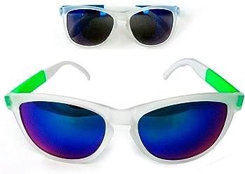 fe60786f82 Retro Sunglasses Classic Style Dark Lens Green Blue Vintage Clear Frame