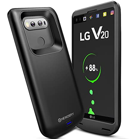 NEWDERY LG V20 Battery Case, 5000mAh Charger Case with Type-C Port, Provide  Extra 100%+ Battery Life and Full Protection Compatible LG V20