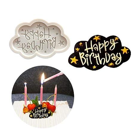 Molde de Silicona 3D Feliz cumpleaños de la Estrella Nubes ...