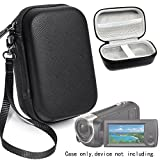 Camcorder Case for Sony HD Video Recording HDRCX440, HDRCX405 Handycam; Canon VIXIA HF R800, Panasonic HC-V180K and Kimire HD Recorder, also fit for Sony HDRAZ1VR/W action camera, mesh pocket for cabl