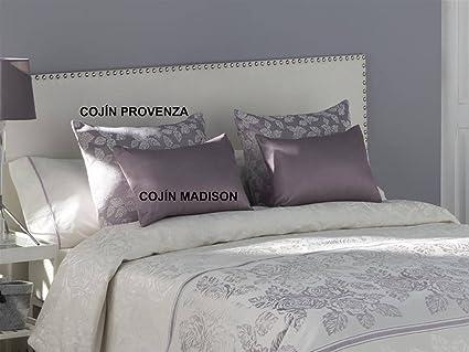 Tejidos JVR - Cojín PROVENZA 50x60 cm - Color Malva con ...