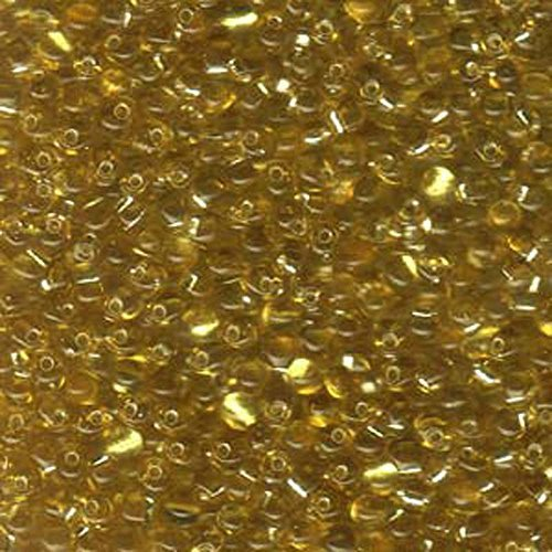 Gold Silver Lined Miyuki 3.4mm Fringe Seed Bead Glass Tear Drops 25 Gram Tube Approx 650 Beads