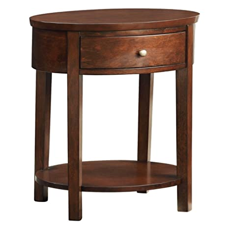 Amazon.com: Weston Home 1 cajón mesa de Accent ovalada ...