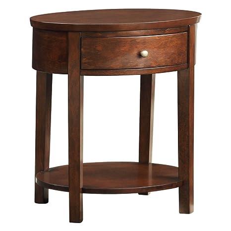 Amazon.com: Weston Home 1 cajón mesa de Accent ovalada ...