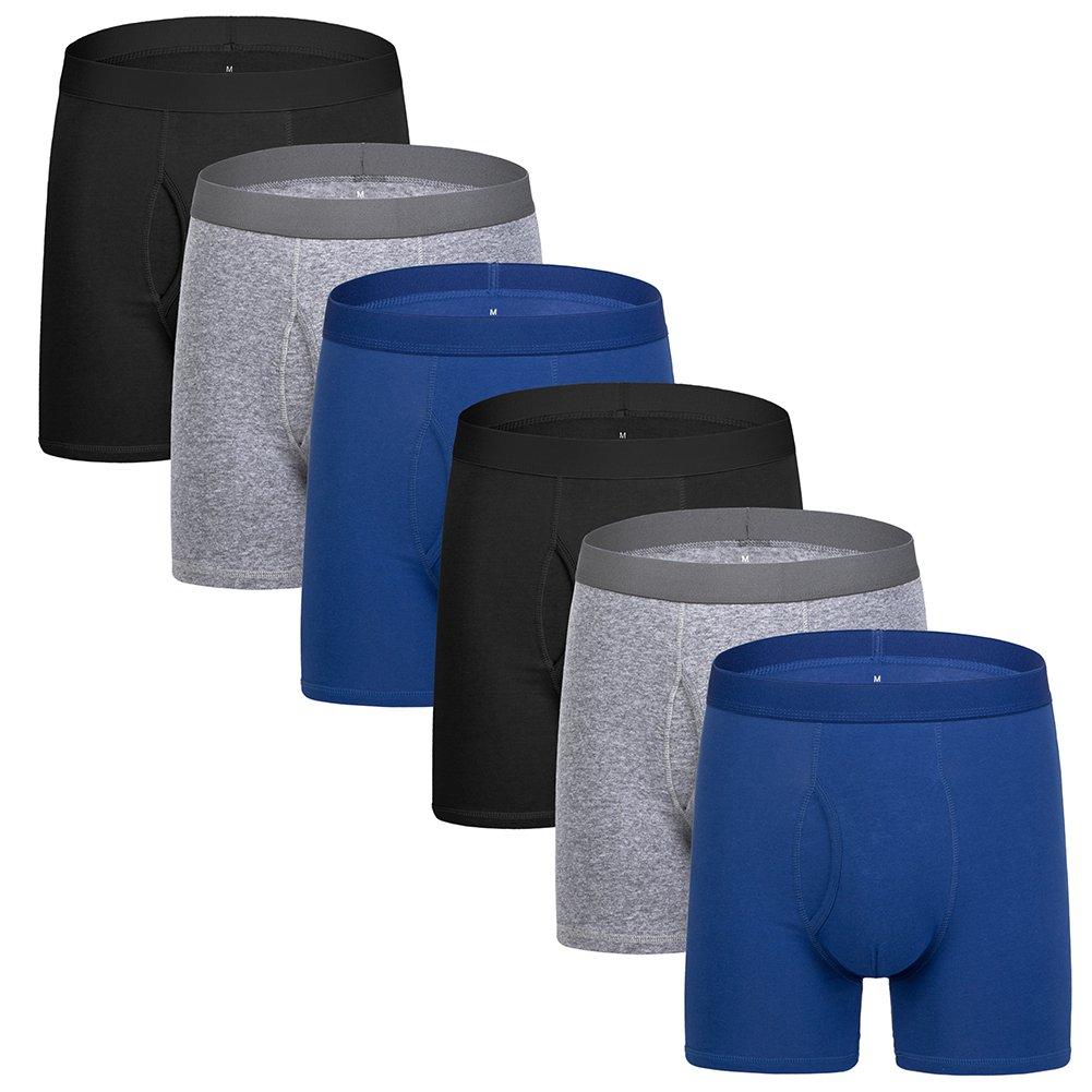 5Mayi UNDERWEAR メンズ B077XYND8Q X-Large|E: 6-pack Blue Underwear E: 6-pack Blue Underwear X-Large