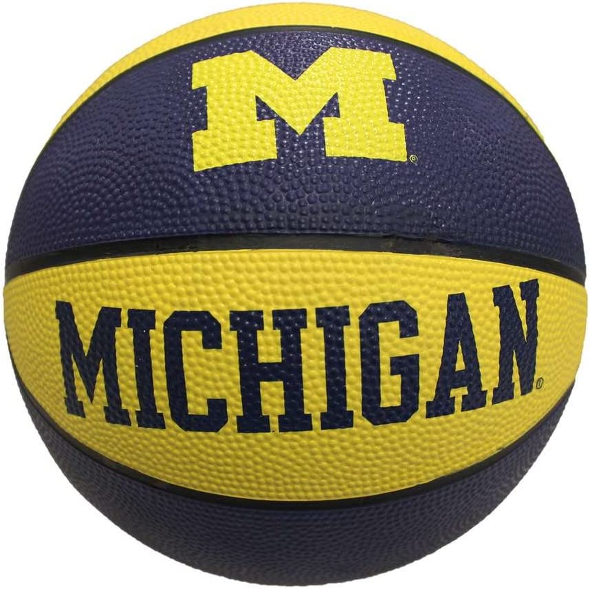 Michigan Wolverines Mini Rubber Basketball