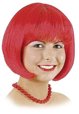Peluca de las señoras deLola roja carnaval bob corte moderno Charleston: Amazon.es: Juguetes y juegos