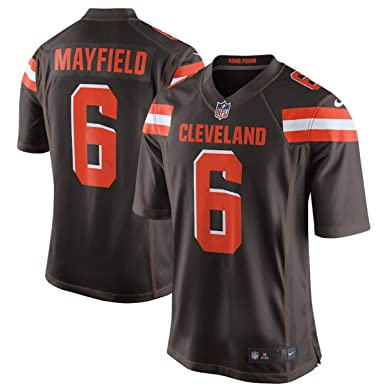 de5162e17 Outerstuff Youth Cleveland Browns Baker Mayfield Boys 2018 NFL Game Jersey  – Brown (Youth Small