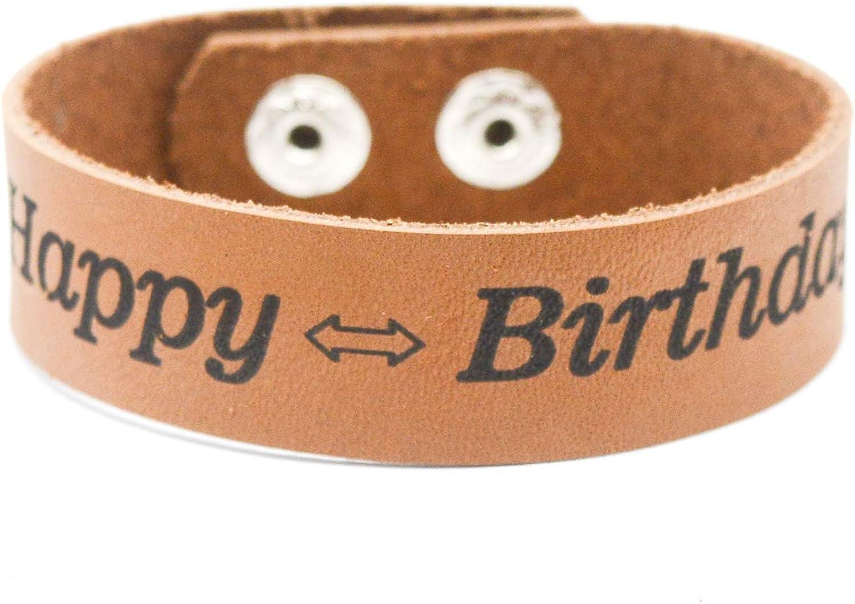 Lan Jin Art Happy Birthday Bracelet Jewelry Blessing Friendship Men Women Child Boy Girl Bracelet Birthday Party Gift