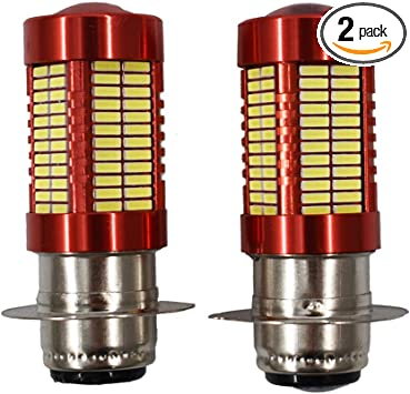 2 Pack 100W LED HeadLight Bulbs For Honda TRX 250 300 400 450 700 102-SMD 6000K