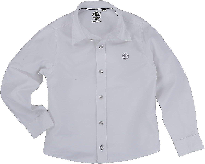 Timberland - Camisa - para niño Weiß 8 años: Amazon.es: Ropa y accesorios