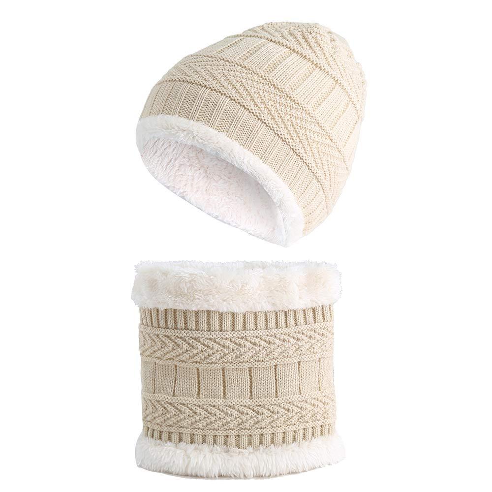 1 /– 8 anni sciarpa scaldacollo cappello invernale caldo bambino in morbida fodera di lana Cappello da Sci allaperto e Set Sciarpa Tukistore Bambino Maglia cappello