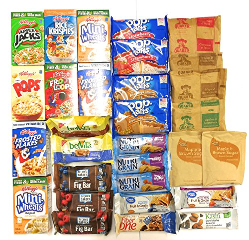 Ultimate Survival Kits Snack Care Package for College Students, Military, Friends (Ultimate Breakfast)