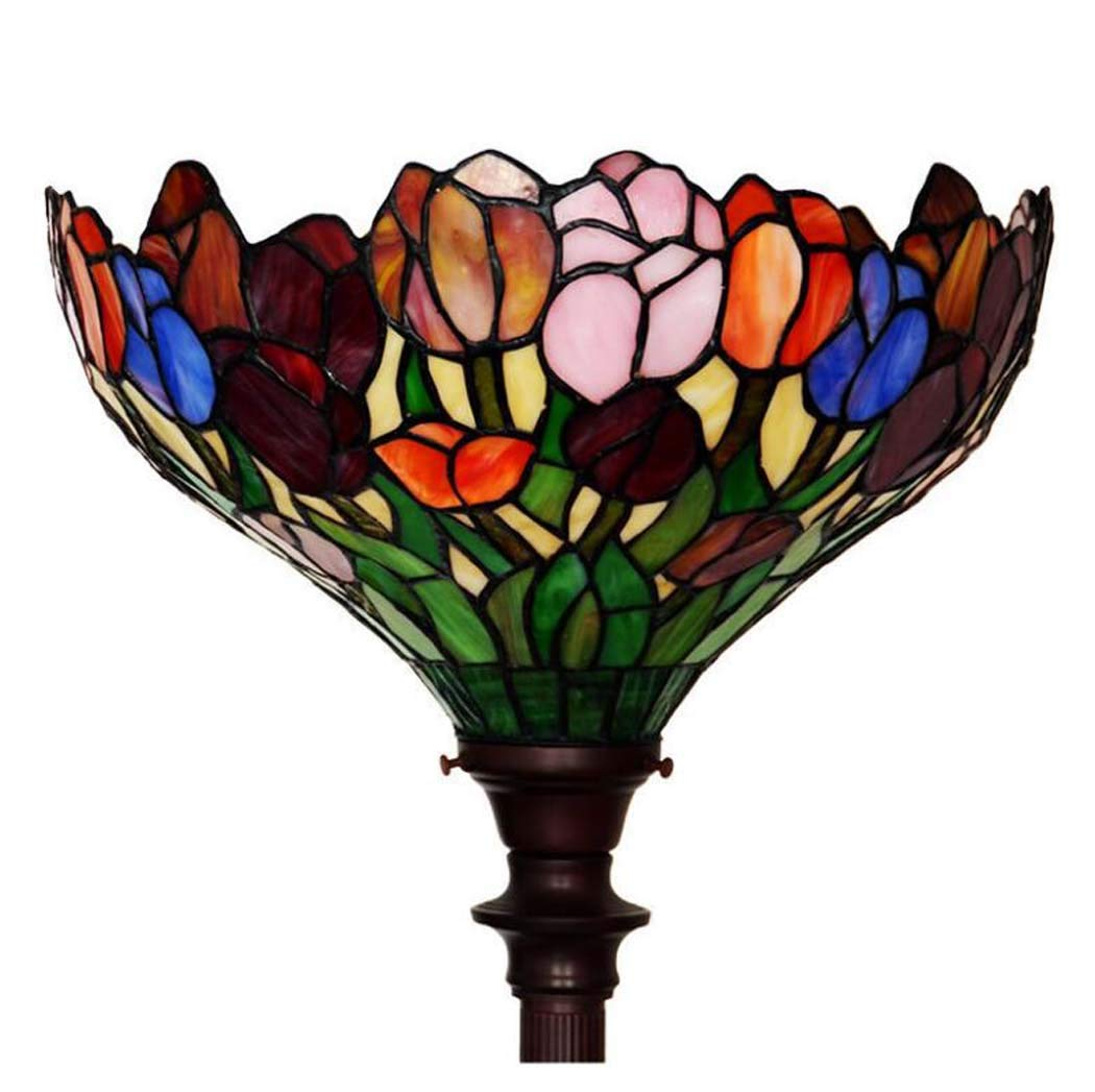 Amazon.com: ChuanHan Tiffany Style Floor Lamp, 15-Inch Tulip ...