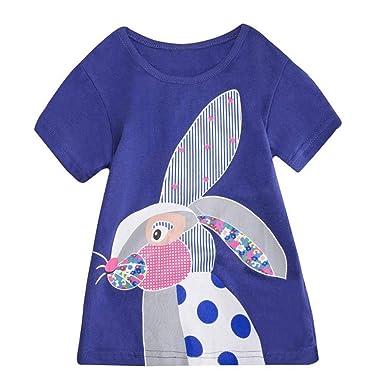 19598168c120 Zerototens Girls Dress,1-8 Years Old Toddler Kids Baby Girls Cartoon Animal  Print