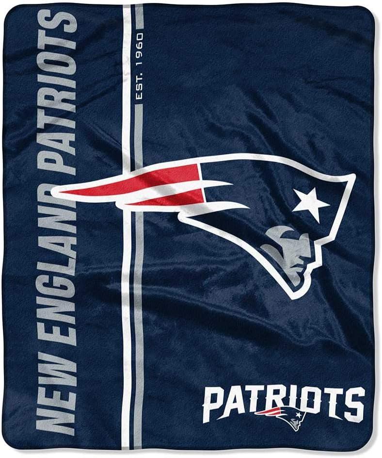 Team Colors Northwest NFL New England Patriots 50x60 Raschel Restructure DesignBlanket One Size