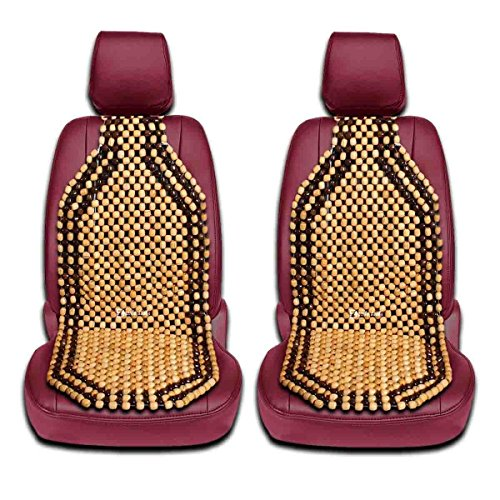 Zento Deals 2 Pieces of Natural Wooden Beads Back Massage Cushion (Australian Outdoor Furniture Company)