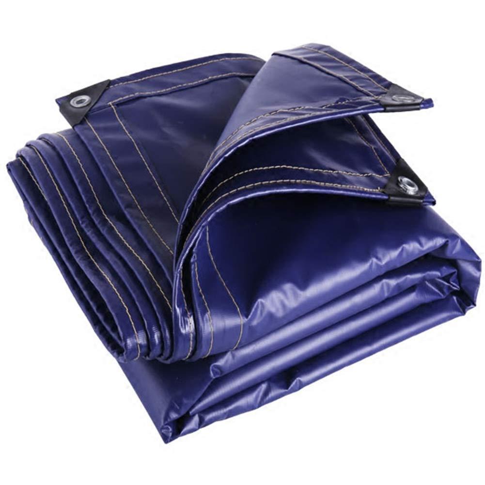 MSF Zeltplanen Heavy Duty verdicken PVC-Plane 100% wasserdicht und UV-Schutz im Freien Camping Abdeckung, Sonnencreme Sonnenschutz Auto Pool Plane Leinwand, 550g   m² Dicke 0,7 mm, blau