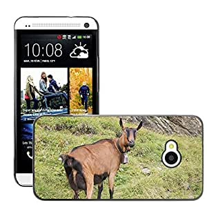 Hot Style Cell Phone PC Hard Case Cover // M00111455 Goat Mountains Meadow Pasture Animal // HTC One M7