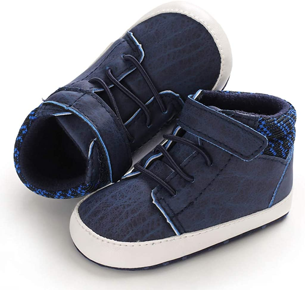 Jamicy /™ Baby Toddler Shoes Soft Bottom Shoes Casual Sports Shoes Canvas high-top Rubber Shoes Newborn Girls Boys Cartoon Shoes First Walkers Soft Sole Shoes Sneakers