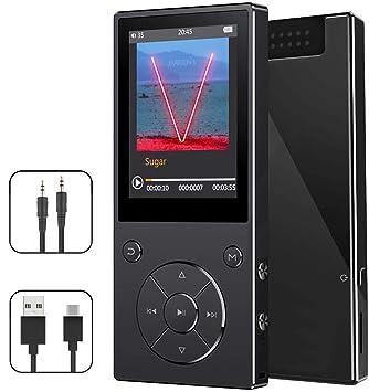 CFZC - Reproductor de MP3 con Bluetooth 4.2, Reproductor de música de 8 GB con Altavoz, Reproductor de MP4 de Metal sin pérdidas, con Radio FM y ...