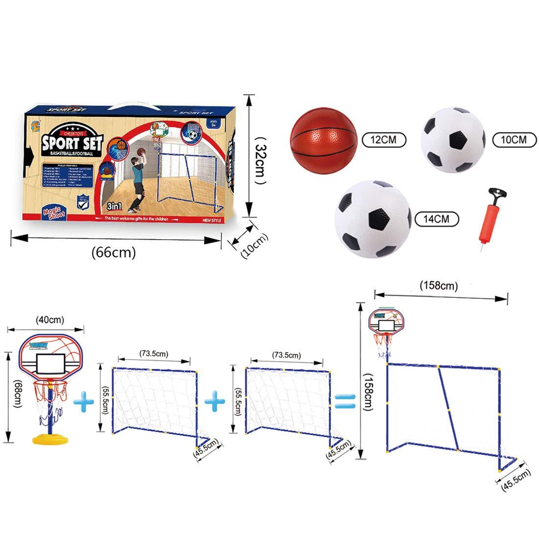 45 De Juguete Niños 158 Portería Con Para Plegables 2 158 5cm Fútbol EH92ID