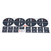 Decdeal AC Dash Button Sticker Repair Kit AC Panel Decals & Radio Button Repair Decal Set Replacement for GMC Chevrolet…