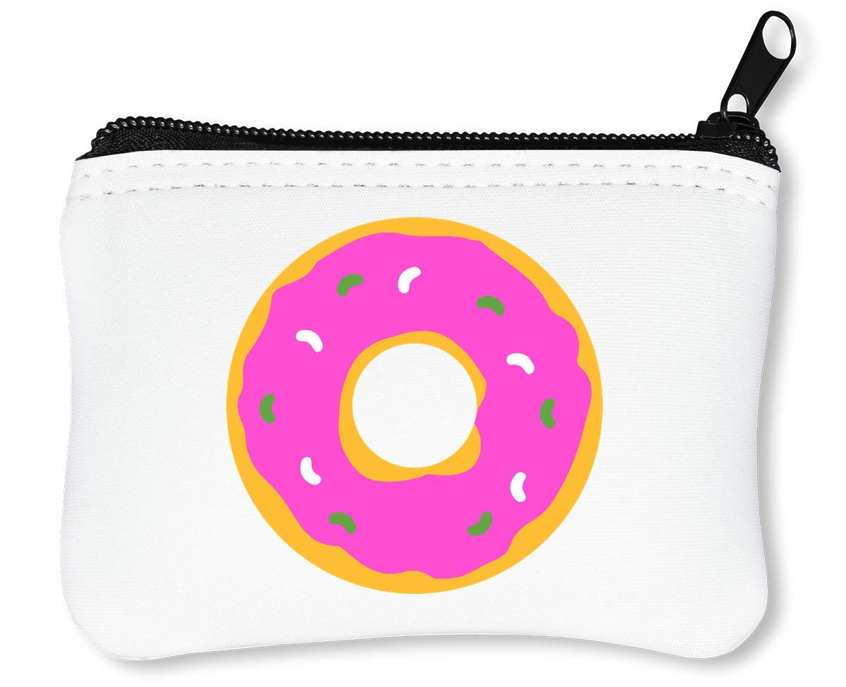 Round Doughnut Graphic Billetera con Cremallera Monedero Caraterahttps://amzn.to/2AX3wDE