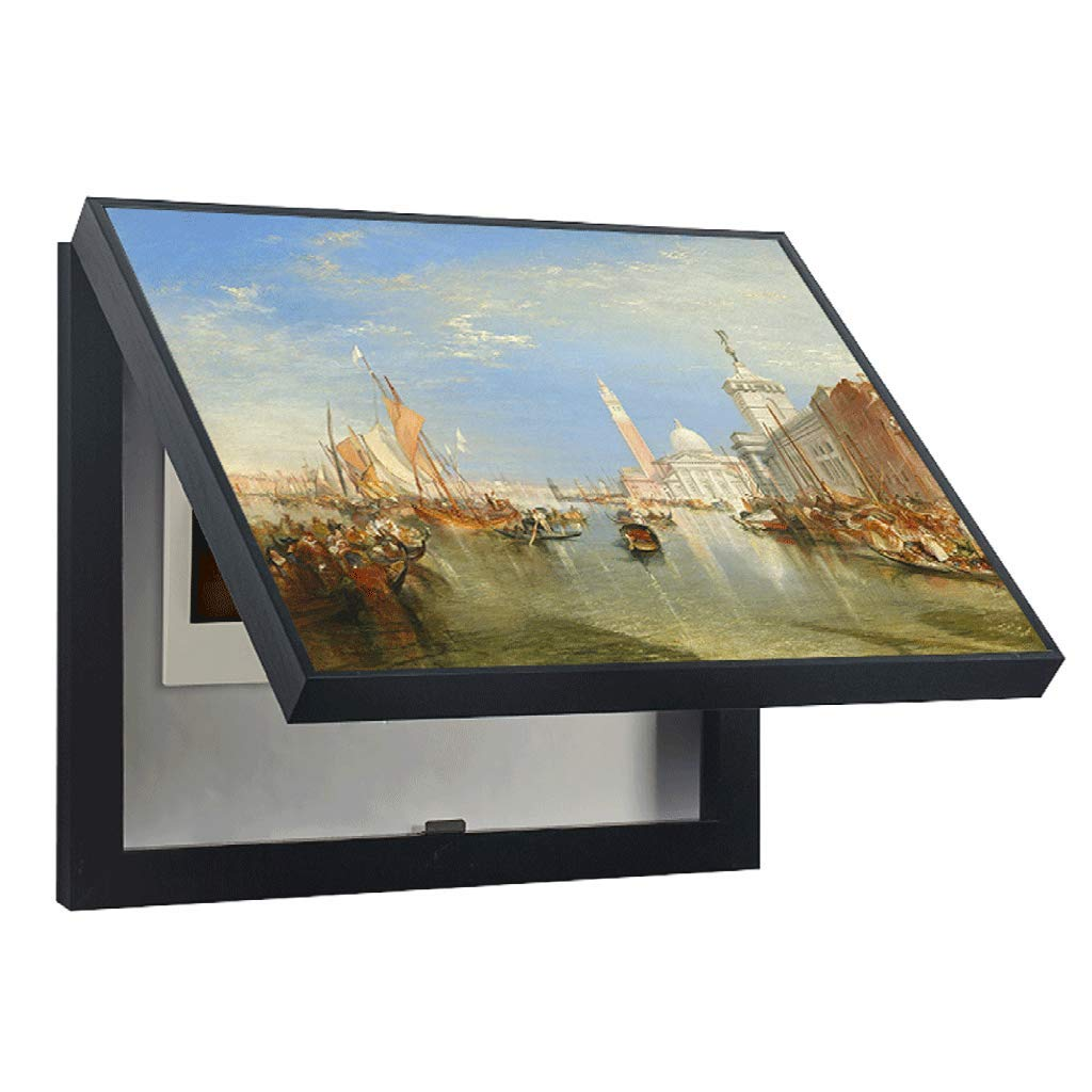 LIUDONGXIN Electric Meter Box Decorative Painting Modern Distribution Box Shielding Box Decorative Weak Box (Color : Black, Size : 5040cm 4030cm-Flip Cover) by LIUDONGXIN