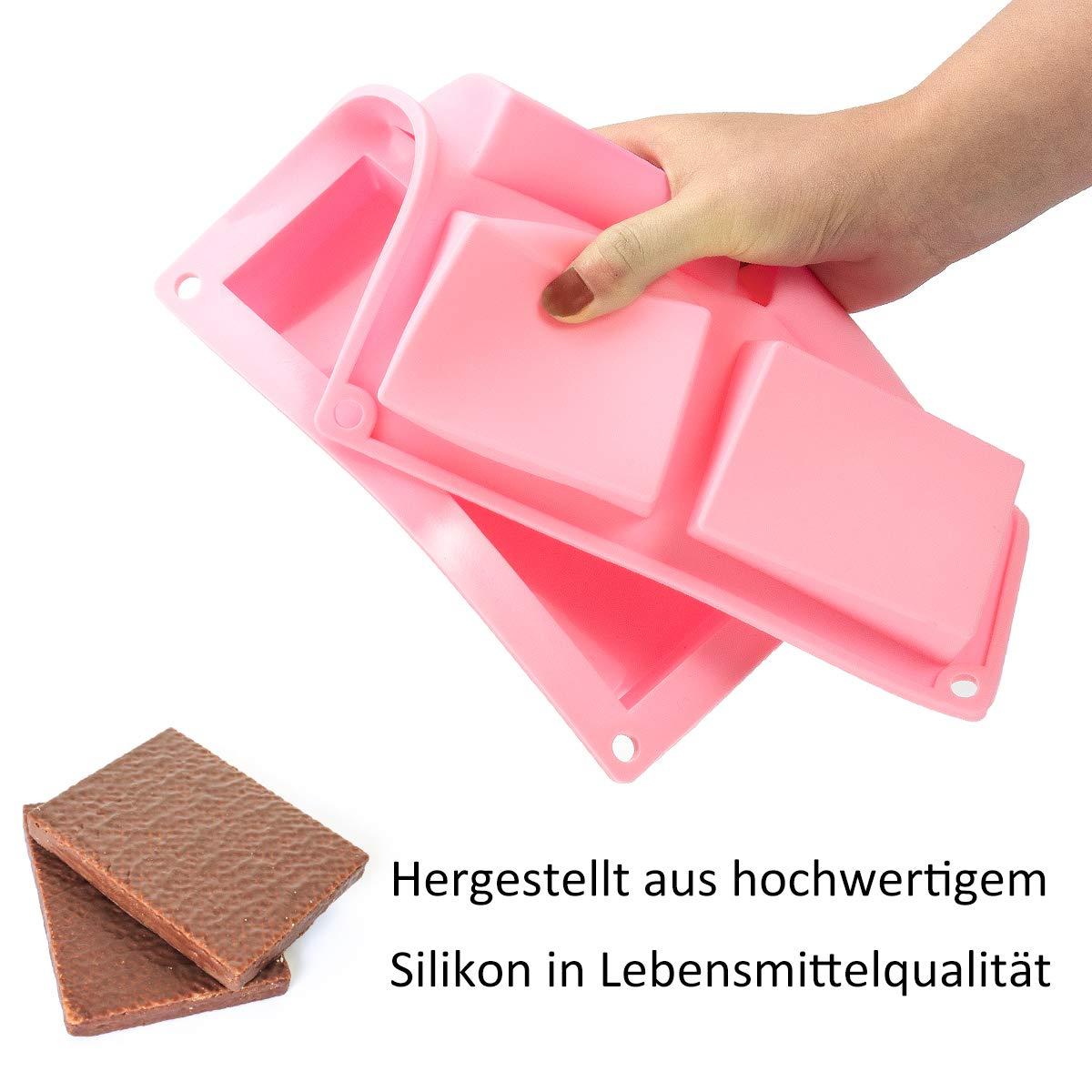 Madholly 2 Pcs 6 Cavidades Molde de Silicona Reutilizable para ...