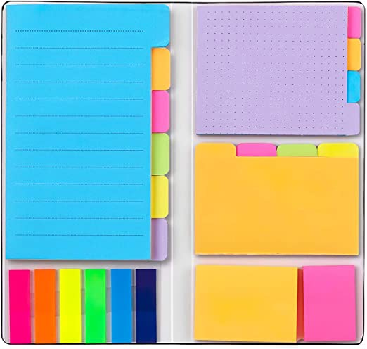48 Orange and Pink 402 pcs 48 Blank 4x6 25 per PET Color Prioritize with Color Coding Colored Divider Sticky Notes Bundle Set by heartybay 3x4 48 Dotted 60 Ruled 4x3