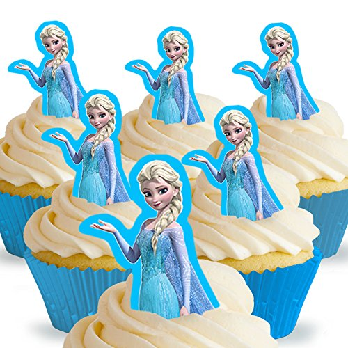 Cakeshop 12 x PRE-CUT Disney Queen Elsa Stand