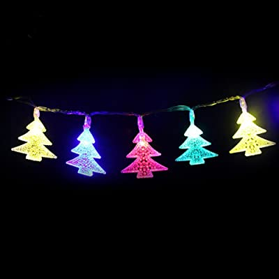 Ecloud Shop Rideau de la maison Décoration LED Lights Arbre de Noël Colorful String Lights
