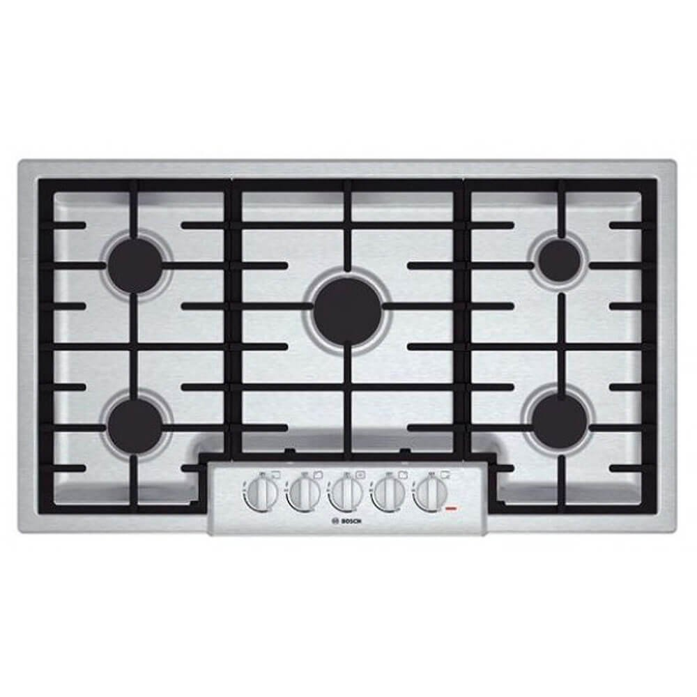 Bosch NGM8655UC 800 36'' Stainless Steel Gas Sealed Burner Cooktop