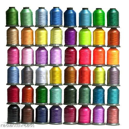 48 Large Spools Embroidery Machine Thread by Embroidex