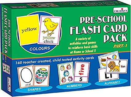 c52bfc21a Buy Creative s Education Aids 0512 Pre School Flash Card Online at Low  Prices in India - Amazon.in