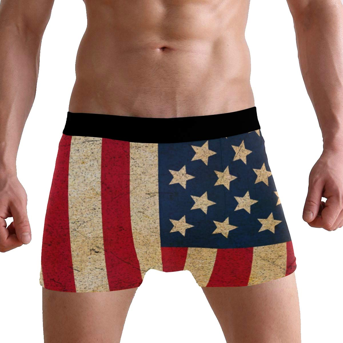 Vintage American Flag Boxer Briefs Mens Underpants Underwear Boxer Shorts for Mens and Boys