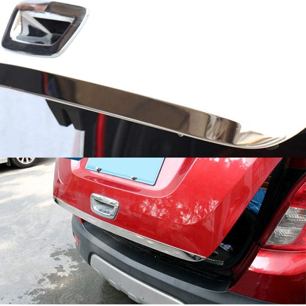 10JQK Edelstahl Auto Heckklappe Deckel Verkleidung Tailgate Lid Cover Trim f/ür Opel Mokka 2013-2018 Back Boot Strip Aufkleber Formteil Dekoration Protektor Zubeh/ör Styling Chrom