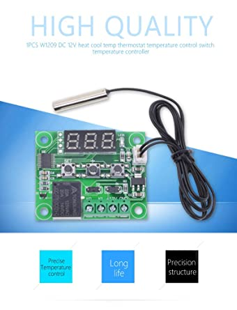 W1209 12V DC Digital Temperature Controller Board Micro Digital ...