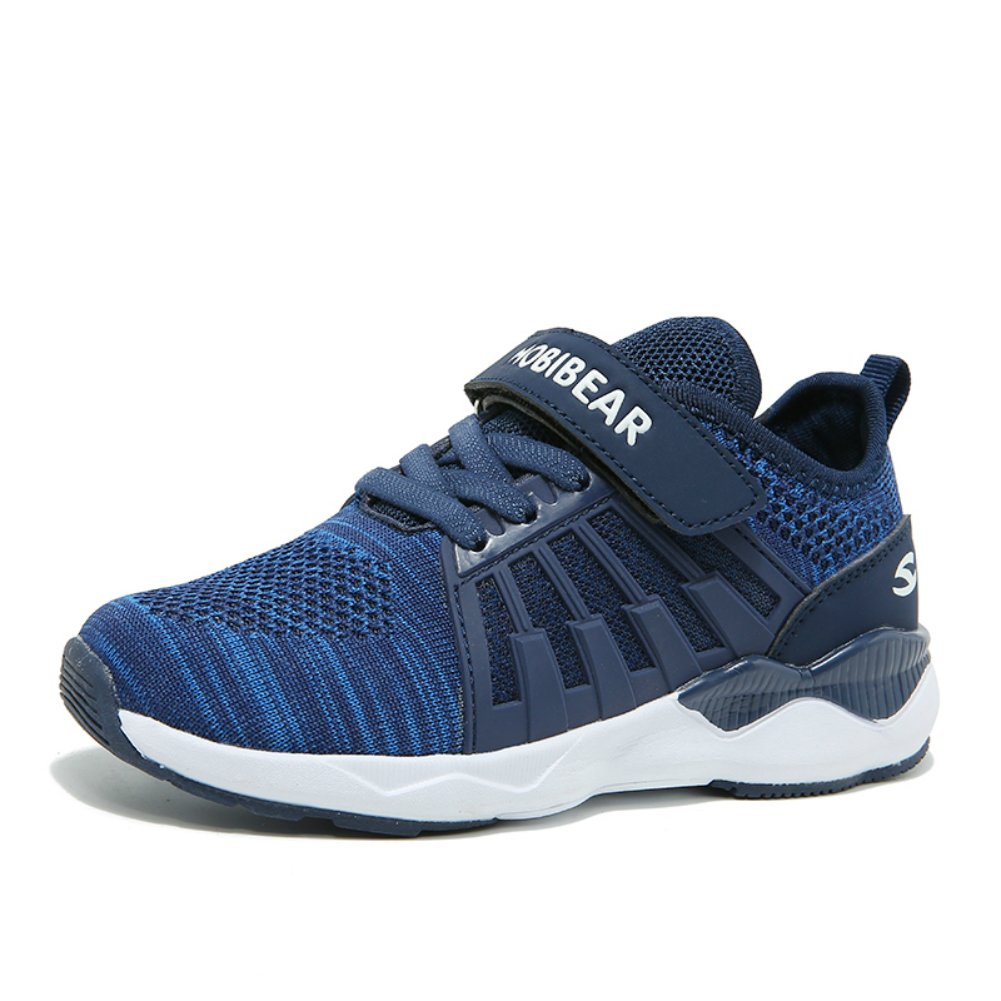AULNG Kids Athletic Running Shoes Breathable Knit Sneakers Lightweight Mesh Boys Girls Sneakers