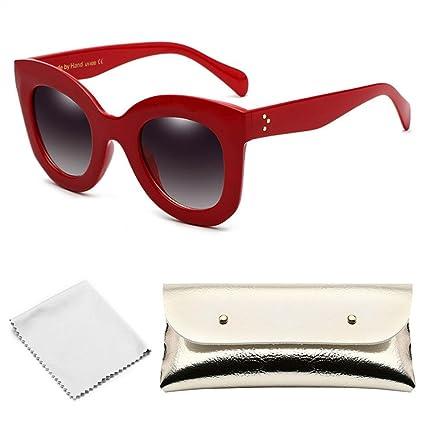 FOONEE Gafas de Sol de Moda, Gafas de Sol de Color Rojo y ...