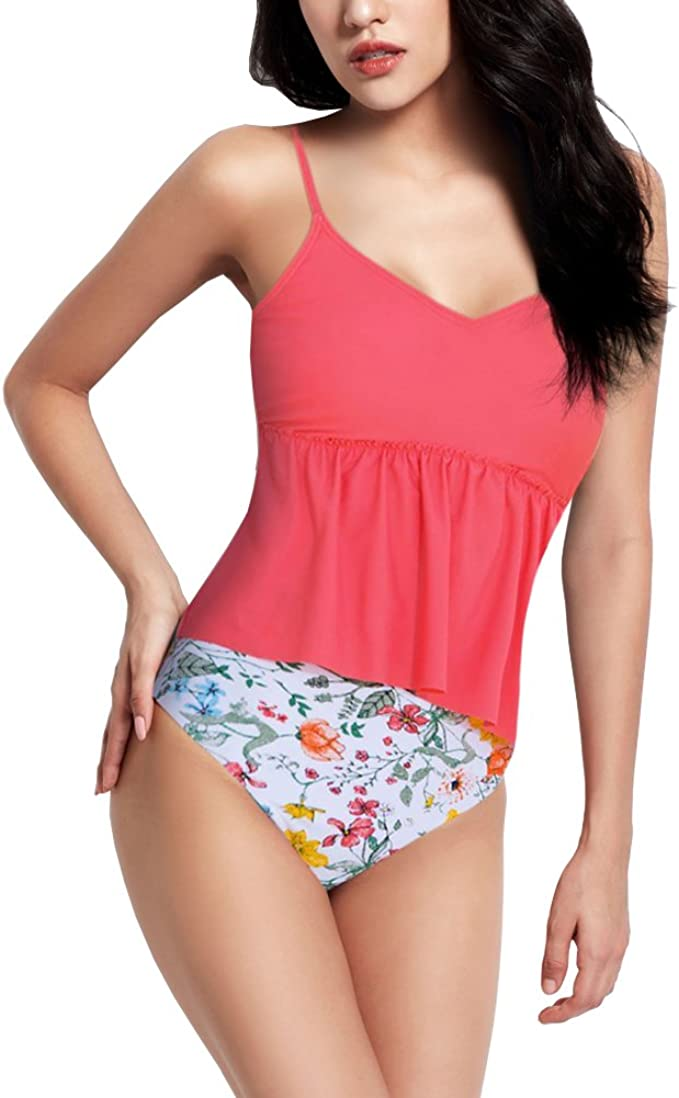 Amazon.com: Traje de baño para mujer, estilo retro, floral ...