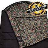 The Colossal Winter Sleeping Bag - XXL Hooded Sleeping Bag for Cold Weather - Perfect for Camping, Backpacking. Temperature Range 20-50°F. Fits Adults up to 6'8. Ripstop Water Resistant Shell