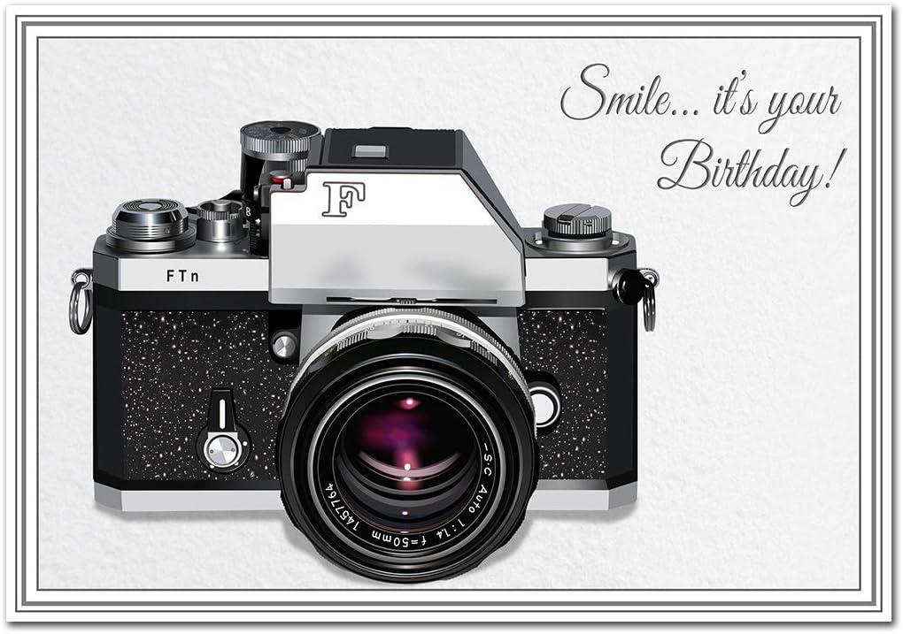 Impresionante tarjeta de cumpleaños para fotógrafo, cámara única ...