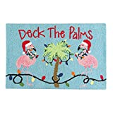 22″ x 34″ Holiday Hooked Rug – Deck the Palms
